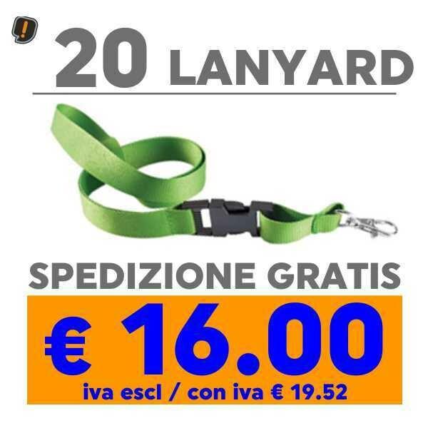 Lanyard 20 pz SPEDIZIONE GRATIS
