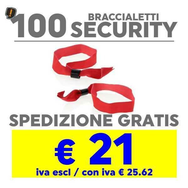 100 Braccialetto Security SPEDIZIONE GRATIS