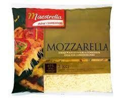 2 Kilo Grated Mozzarella 1 x 2 Kilo
