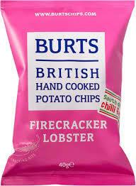 Burts Fire Cracker  Lobster Crisps 1 x 20