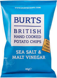 Burts Salt & Vinegar Crisps 1 x 20