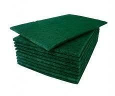 Green Sponge Scourers 1 x 10