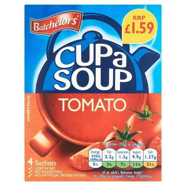 Batchelors Cup a Soup Tomato 4 Sachets 93g