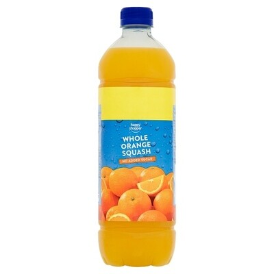 HS Orange Squash 1 x 1 Ltr
