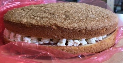 Large Vanilla Dairy Cream  Cake 1 x 12 PTN