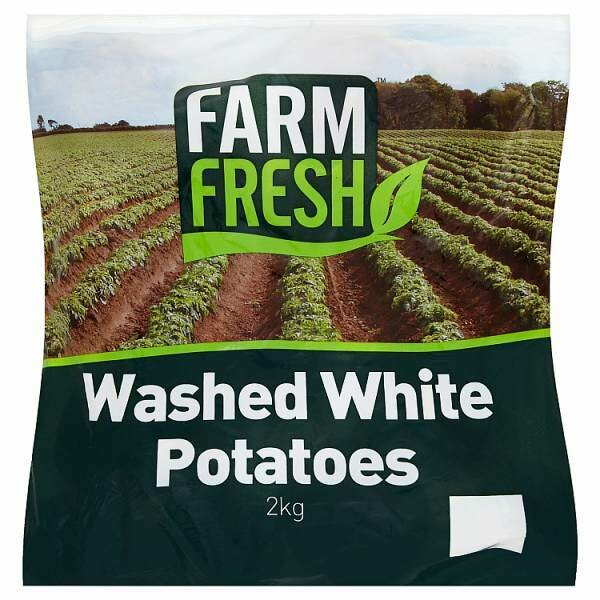 Washed White potatoes 1 x 2 kilo
