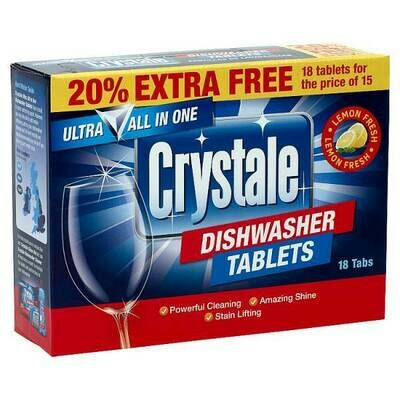 Crystale Dishwasher Tablets 18 x 18g