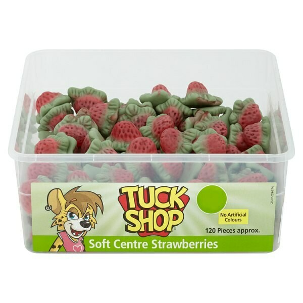 Tuck Shop Soft Centre Strawberries 120 Pieces 780g