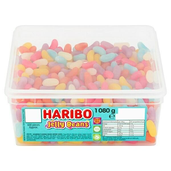 HARIBO Jelly Beans Tub 1080g