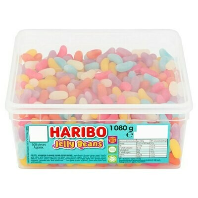 HARIBO Jelly Beans Tub 1080g