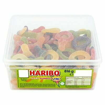 HARIBO Giant Dummies Zing 60 Pieces 816g