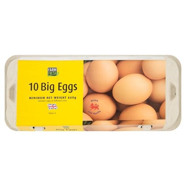 Farm Fresh 10 Big Eggs 660g