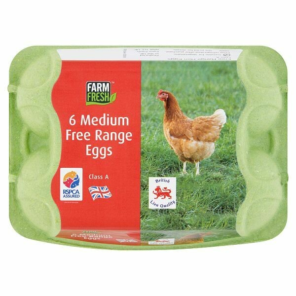 Farm Fresh 6 Medium Free Range Eggs