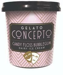 Candy Floss & bubble Gum Gelato Concerto Mini Tubs 24 x 125ml