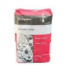 3 Kilo Bag Plain Flour Heygate  1 x 3 Kilo Bag