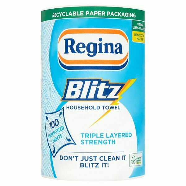 Regina Blitz Household Towel 100 Super-Sized Sheets