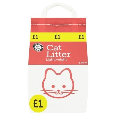 Euro Shopper Cat Litter Lightweight 4 Litres PM £1