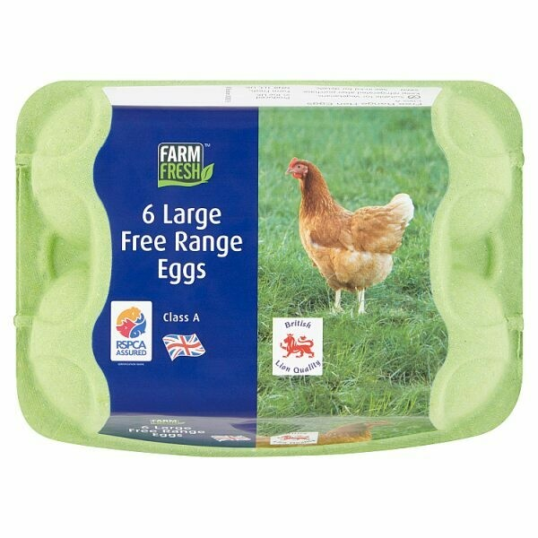 Farm Fresh 6 Large Free Range Eggs