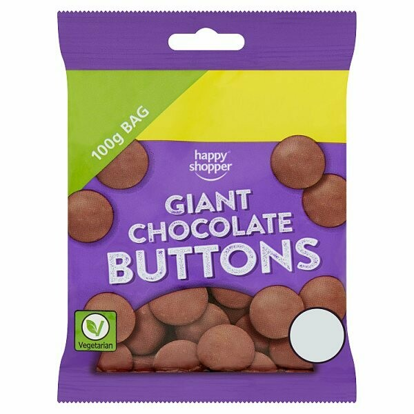 Happy Shopper Giant Chocolate Buttons 100g