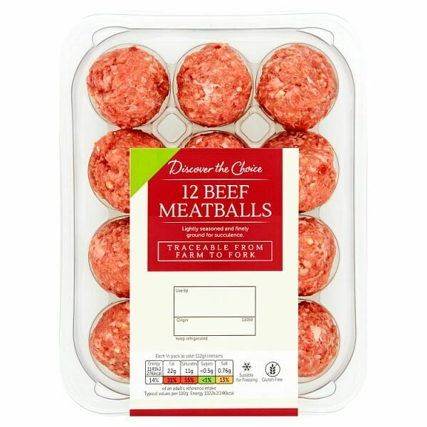 Discover the Choice 12 Beef Meatballs 336g