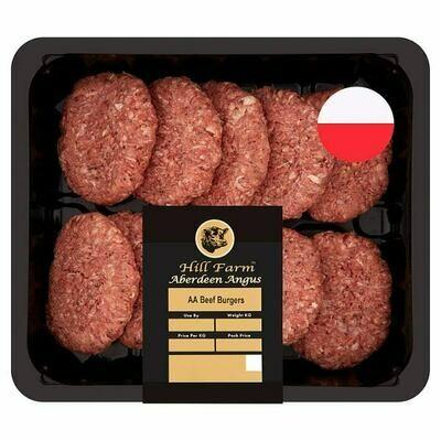 Hill Farm Aberdeen Angus Beef Burgers 1.135kg 1 x 10