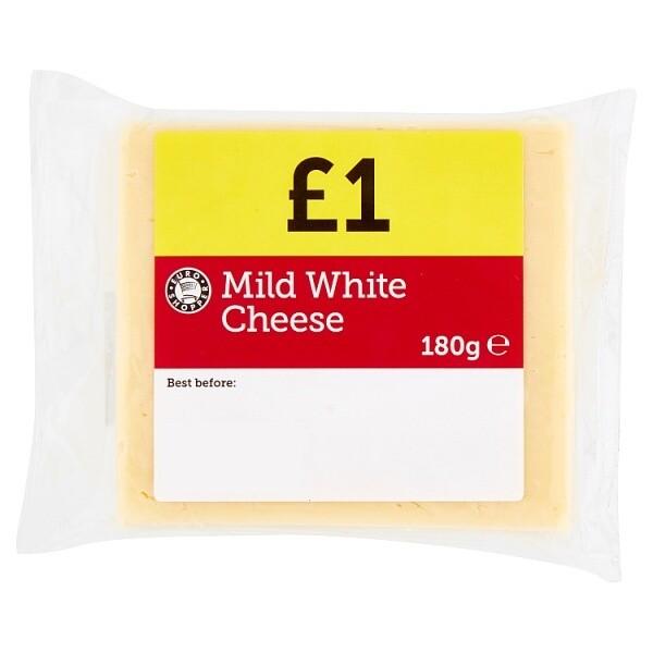Euro Shopper Mild White Cheese 180g