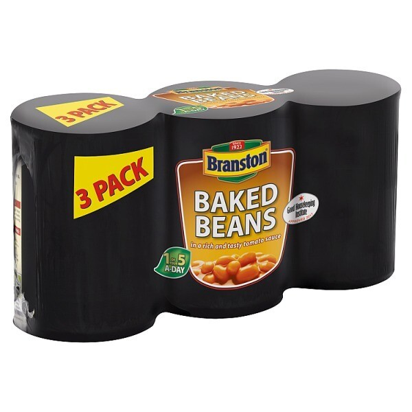 Branston Baked Beans in a Rich and Tasty Tomato Sauce 3 x 410g