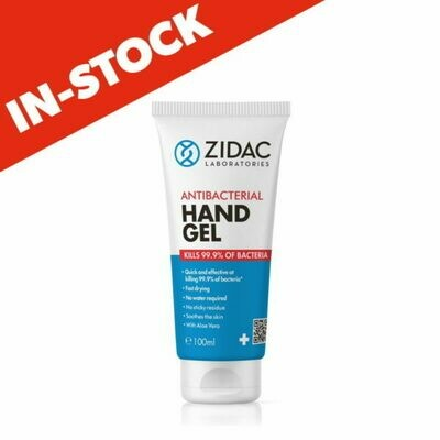 Zidac Antibacterial Hand Gel 1 x 100ml