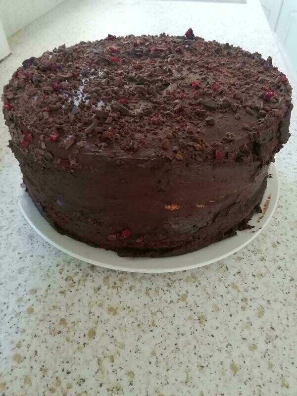 Large Black Forest Pie Cake  Cake 1 x 12 Ptn