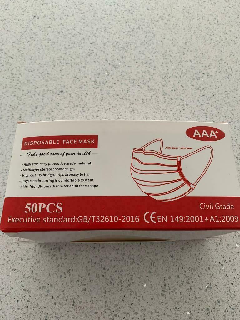 Face Masks Box Of 50
