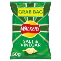 Walkers Salt and Vinegar Grab Bags 32 x 50g
