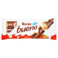 Kinder Bueno Milk Chocolate and Hazelnuts Single Bar 2 Finger x 21.5g (43g)