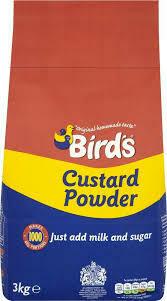 Birds Custard Powder Add Milk 1x3kilo