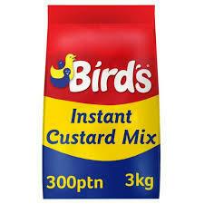 Birds Instant Custard Mix Add Water 1x3kilo