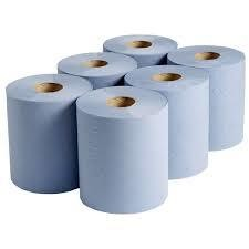 120m Blue Centre Feed Roll 1x6 Roll