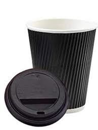 8oz Ripple Cup Black 1x500