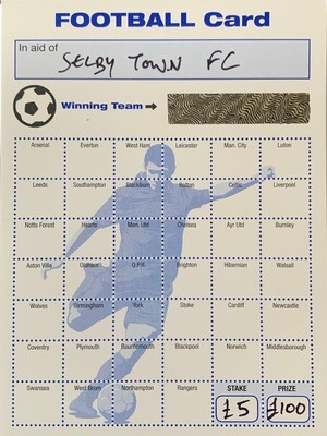 One entry to Football Card Competition