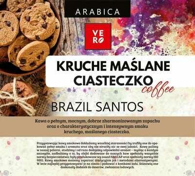 Kawa Ziarnista  Vero Arabika Kruche Maślane Ciasteczko
