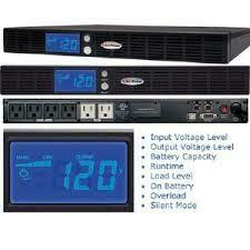 CyberPower OR500LCDRM1U Smart App LCD UPS System, 500VA/300W, 6 Outlets, AVR, 1U Rackmount
