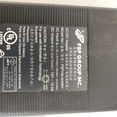4 pin charger 12V 12.5 A FSP150-AHAN1. See pin markings in pictures