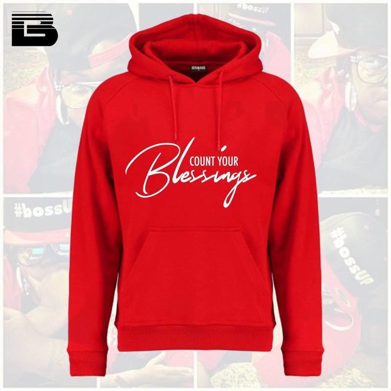 [Red] Count your Blessings Hoodie