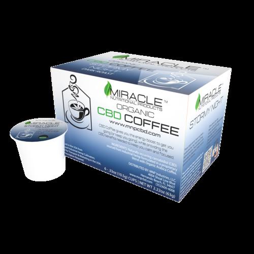 Stormy Night Dark Roast CBD Coffee Single Serve Cup (Box of 6)