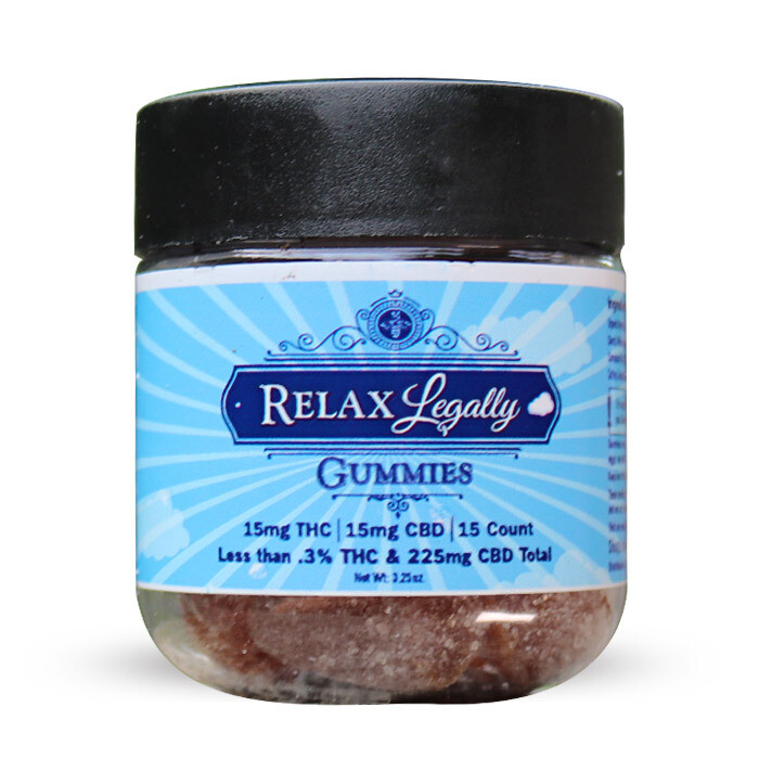 CBD Gummies Relax Legally – 225mg – 15 Count