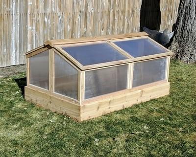 Garden Bed & Greenhouse Set