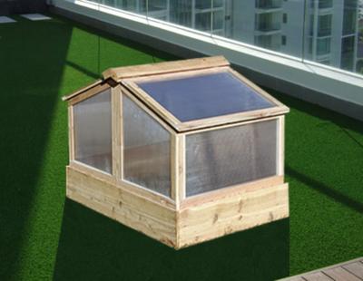 Balcony Garden Box & Greenhouse Set