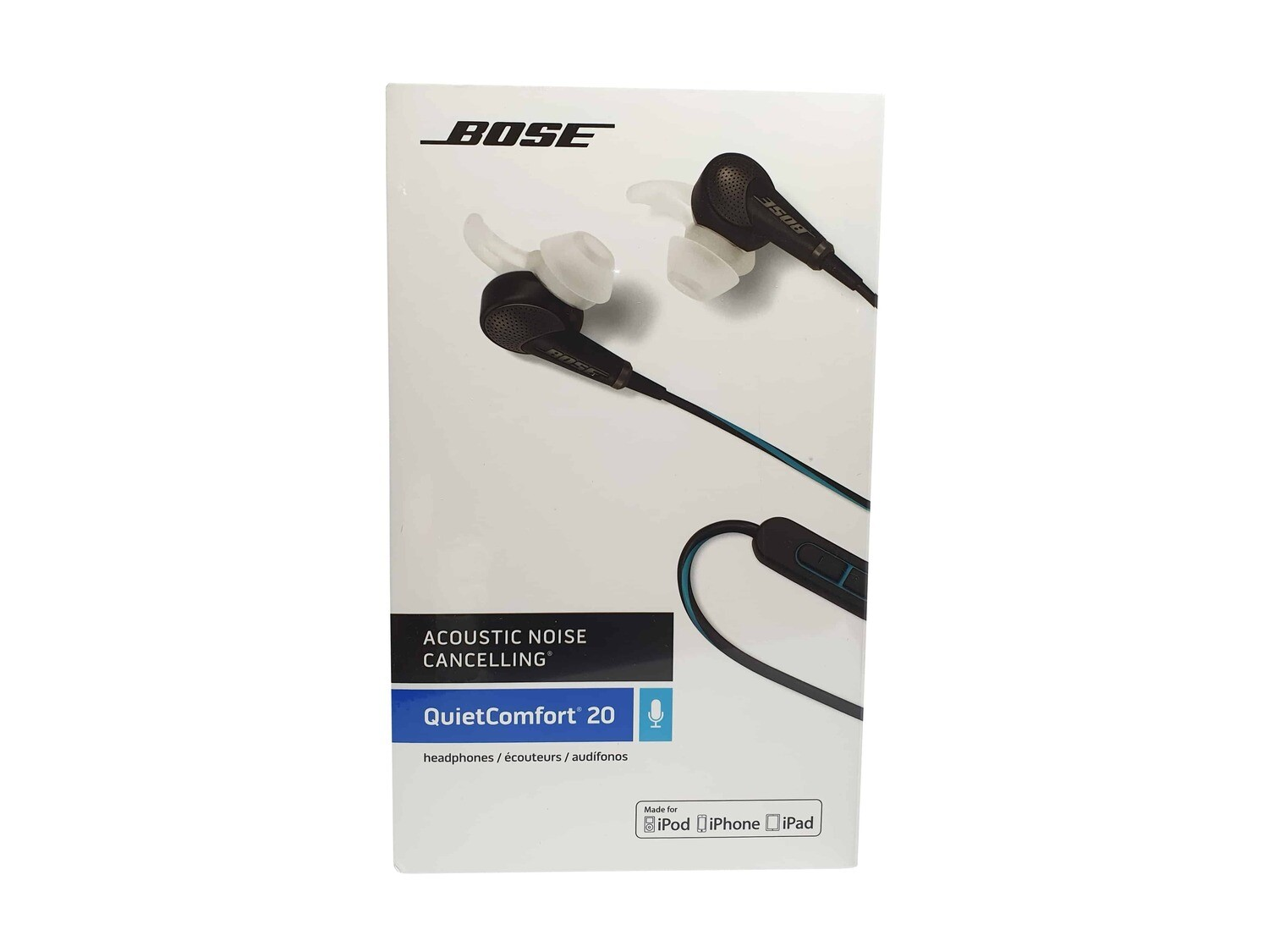 BOSE® QC20 Acoustic Noise Cancelling in-ear headphones for Apple Black