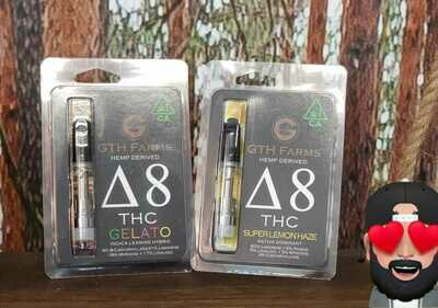 Hemp-Derived Delta 8 THC Vape Carts by GTH Farms