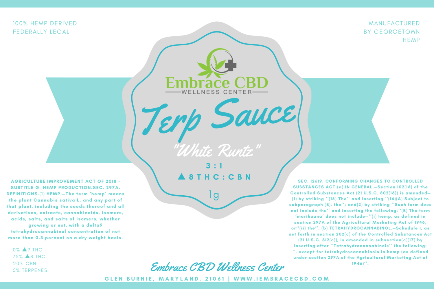 Hemp-Derived Delta 8 : CBN Terp Sauce