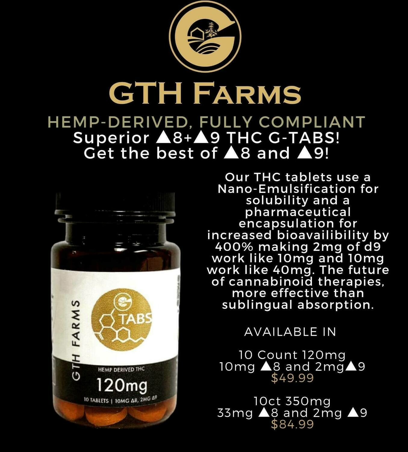 Hemp-Derived ▲8:▲9 Water Soluble G-Tabs