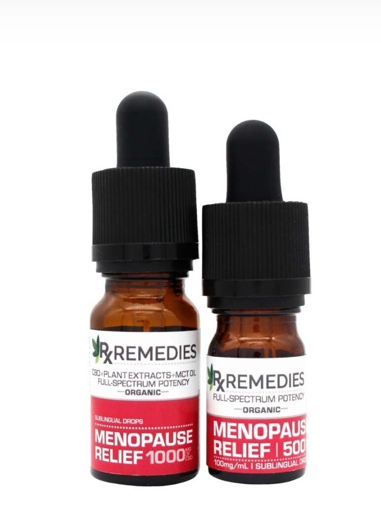 RX Remedies Menopause Relief Tincture 1000mg